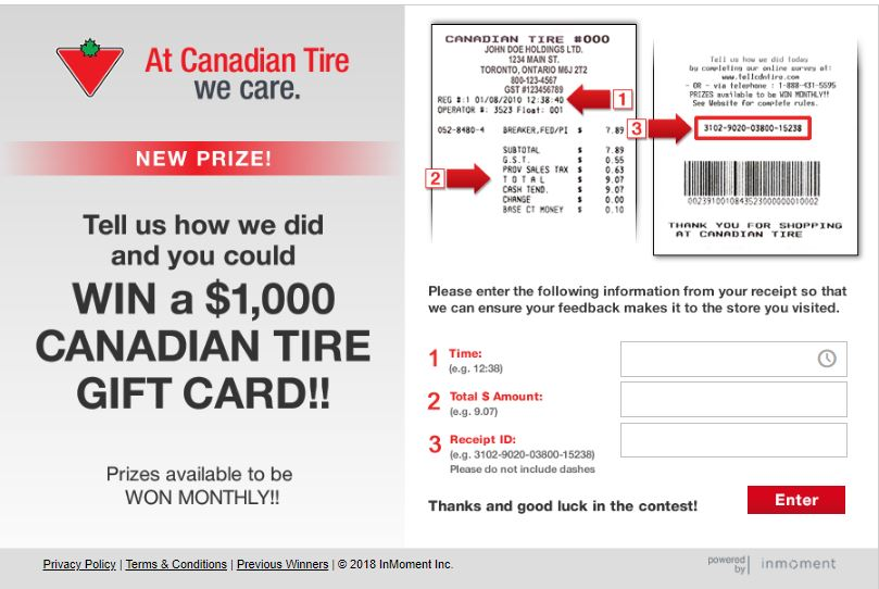 tellcanadian tire survey