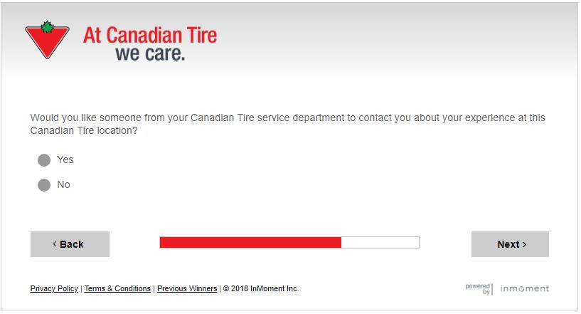 Canadian Tire Customer Satisfaction Survey