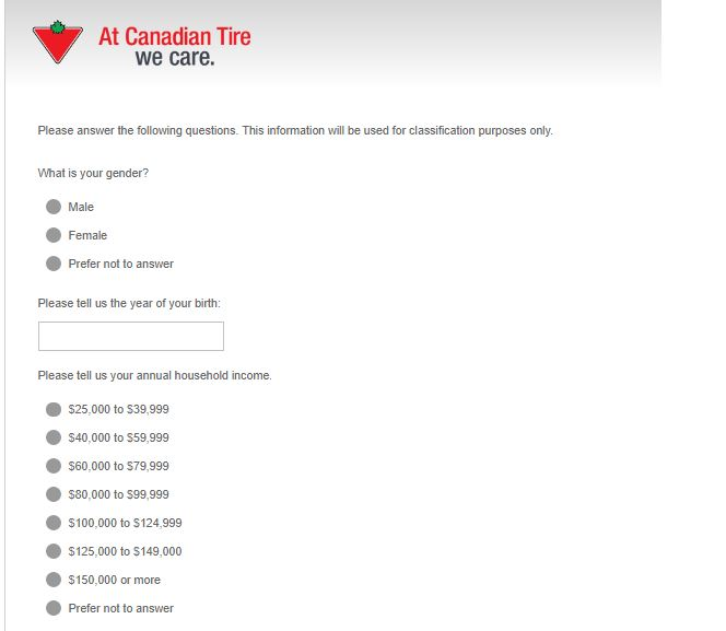 Tell Canadian Tire in its Customer Satisfaction Survey to win $100 Gift ...