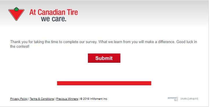 www.tellcdntire.com Canadian Tire Customer Satisfaction Survey ...