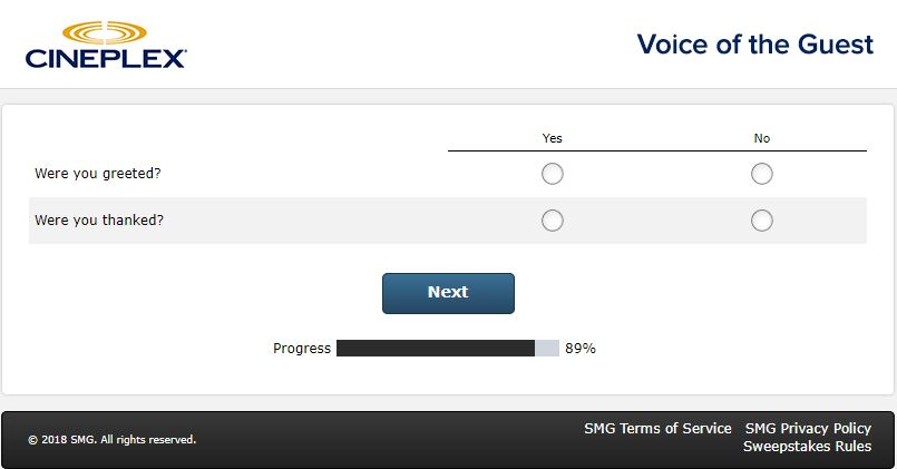 Cineplex Customer Satisfaction Survey