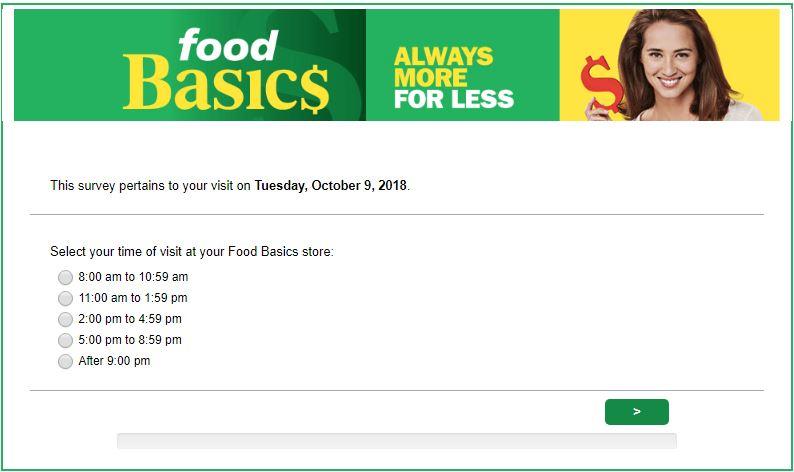 basic food survey