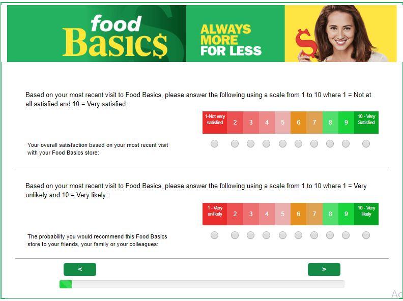 Food Basics Customer Satisfaction Survey