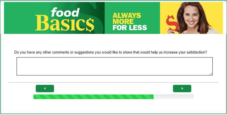 FoodBasics Survey