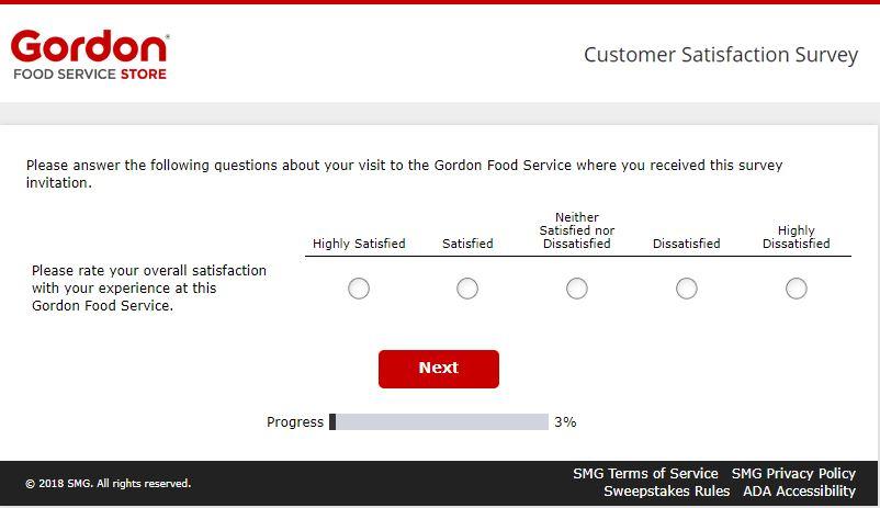 gordon food service survey
