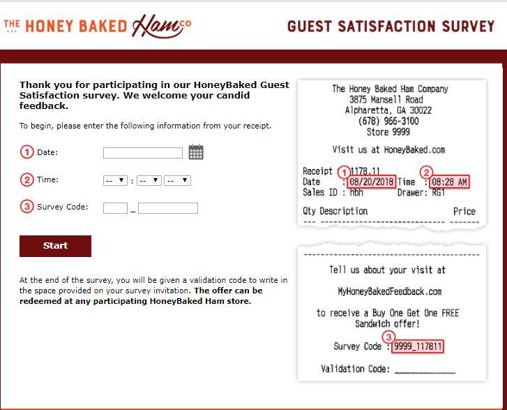 honeybaked ham online survey