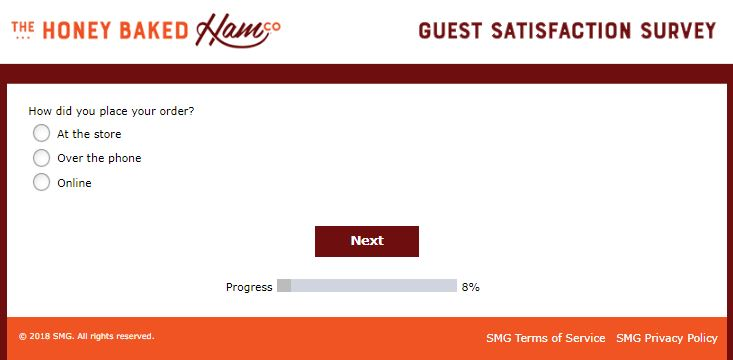 honeybaked ham customer survey
