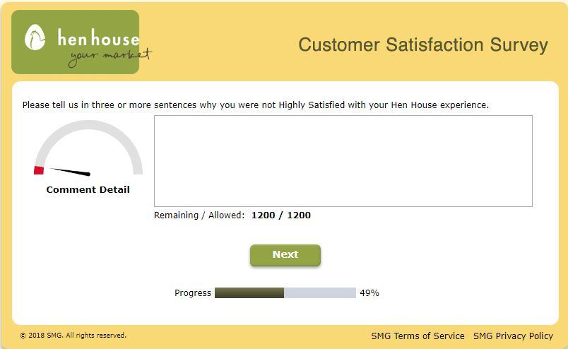 Hen House Customer Satisfaction Survey