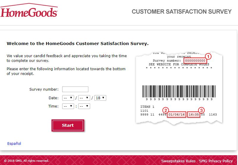 homegoods customer survey