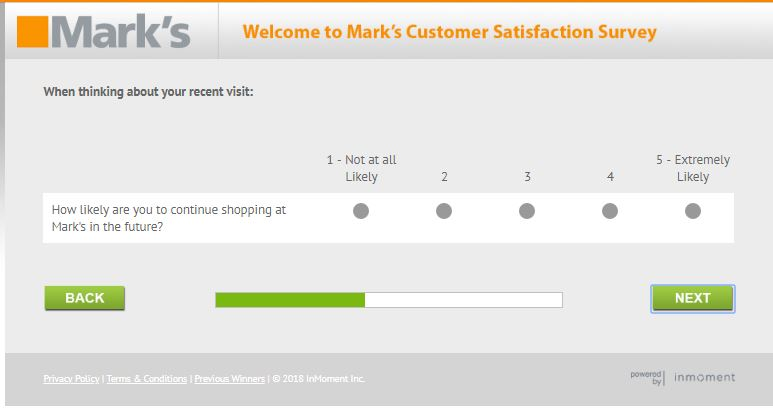 Marks Customer Satisfaction Survey