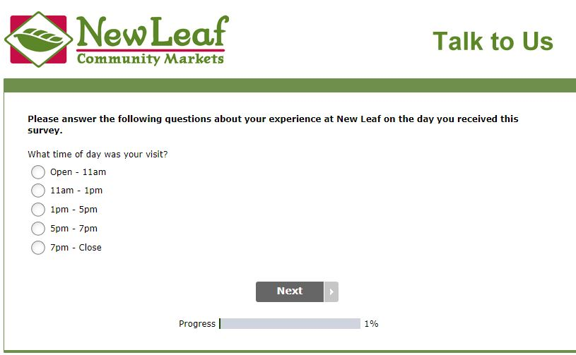 new leaf survey