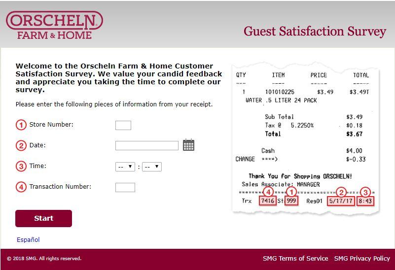 orscheln farm and home Survey