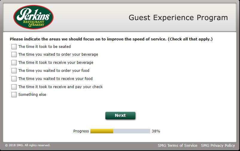 perkins customer survey
