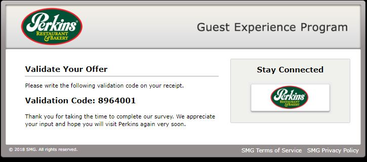 perkins customer satisfaction survey