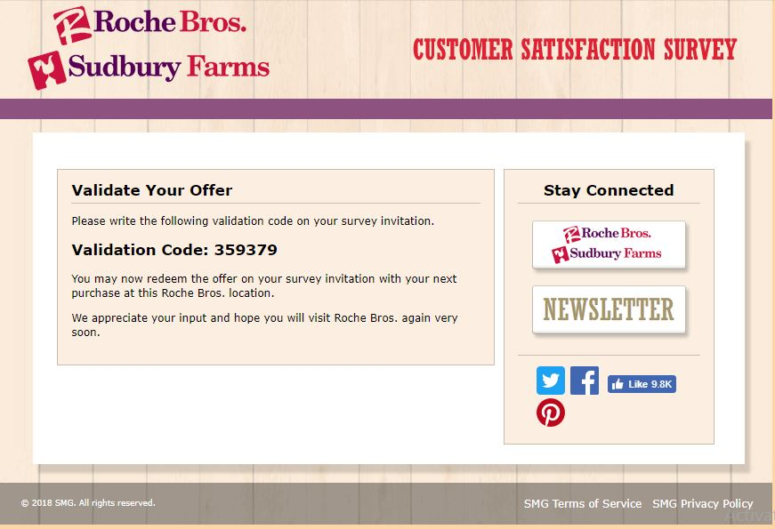 Roche Bros. Customer Satisfaction Survey