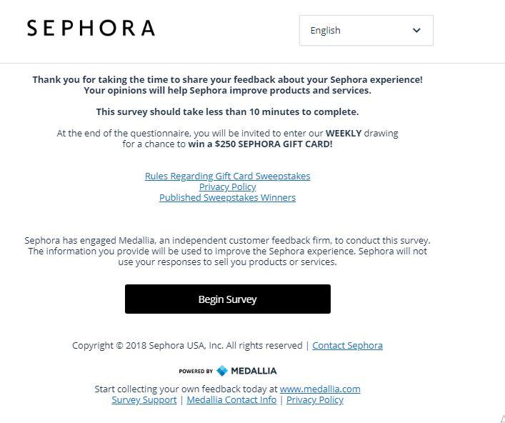 sephora employee survey