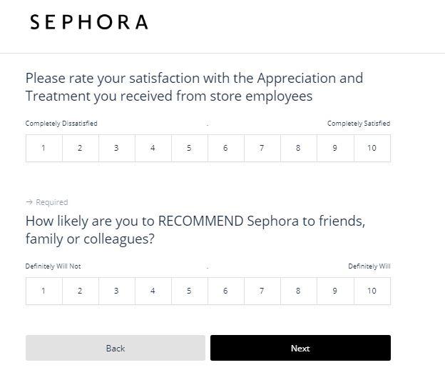 sephora feedback