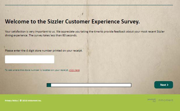 sizzler feedback