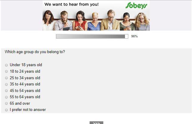 sobeys survey canada