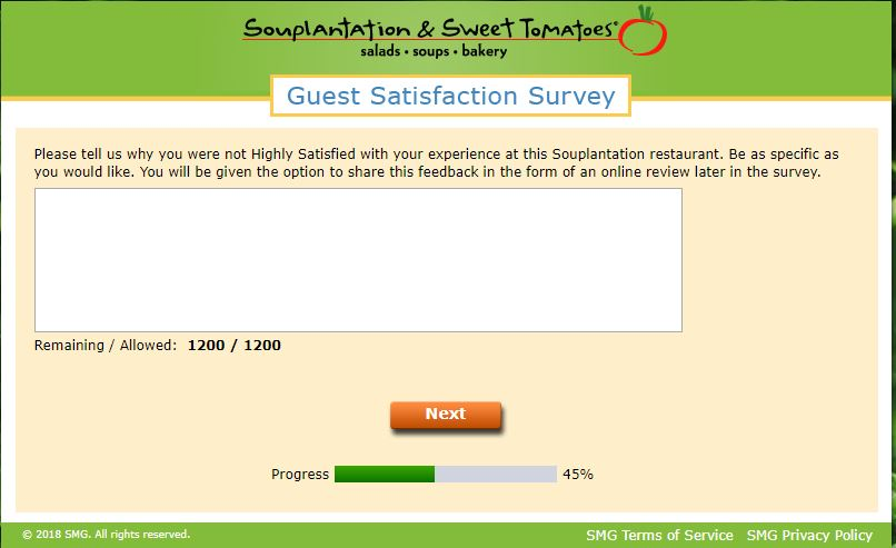Souplantation Survey