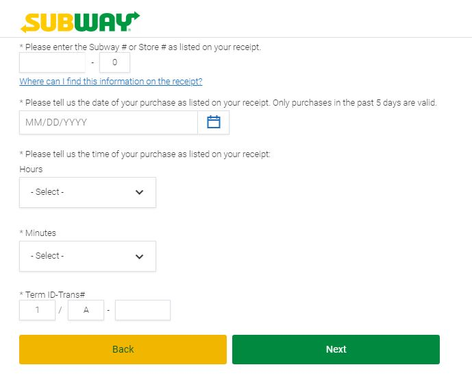 subway customer survey