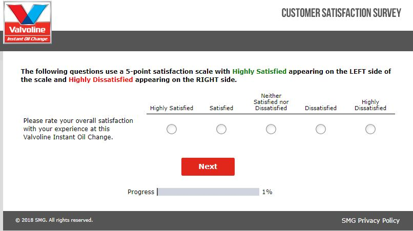 valvoline Instant Oil Change Survey