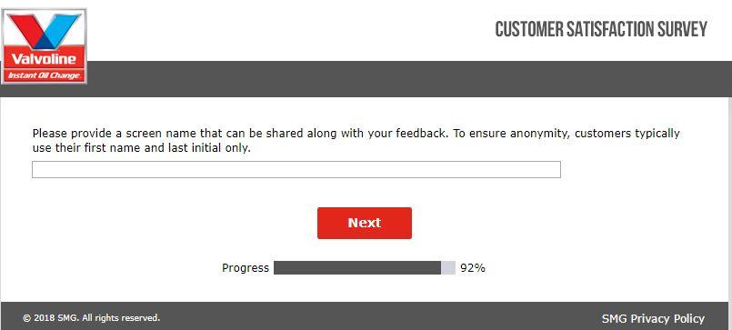 valvoline customer feedback