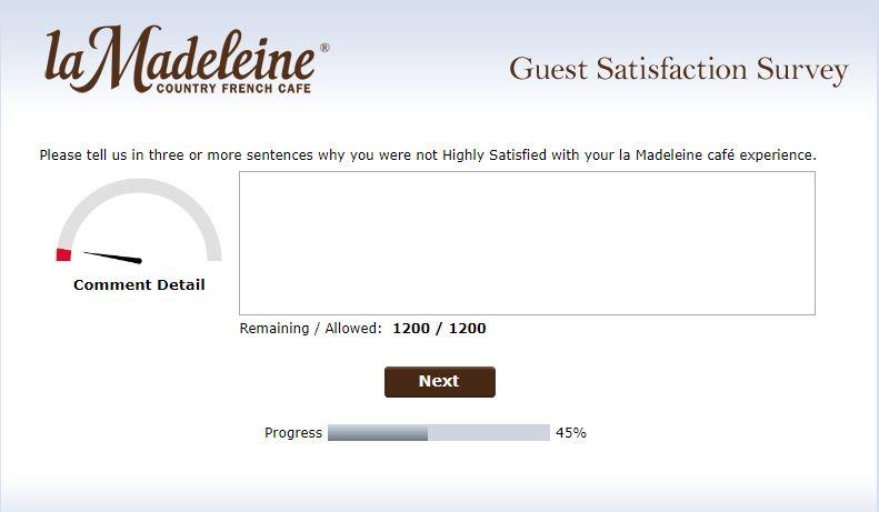 la madeleine survey