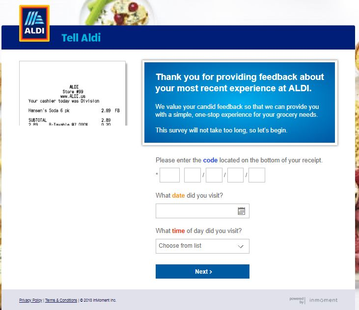 aldi survey coupon