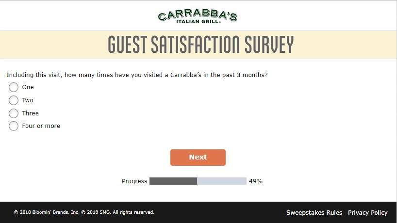 Survey - Carrabba's Italian Grill