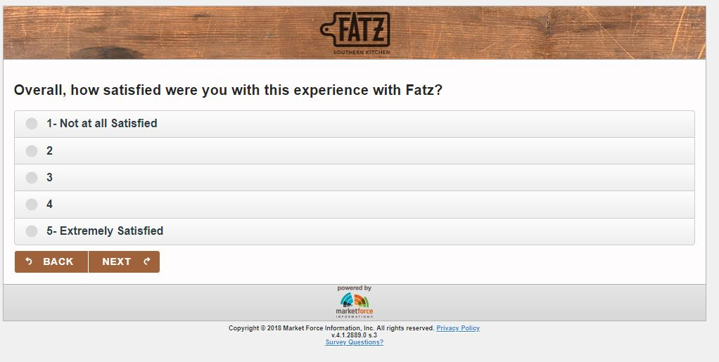 Tell FATZ Customer Satisfaction Survey