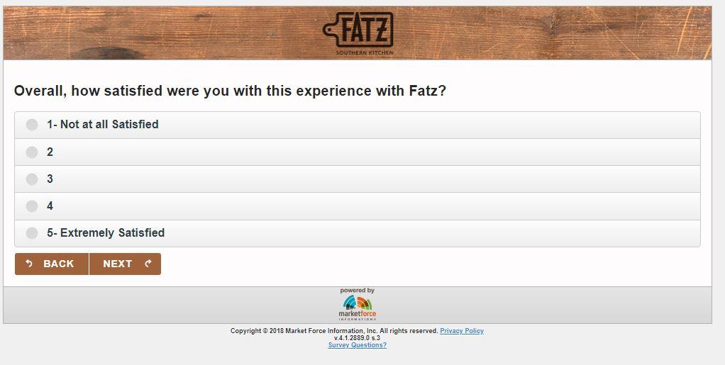 Tell FATZ Customer Satisfaction Survey