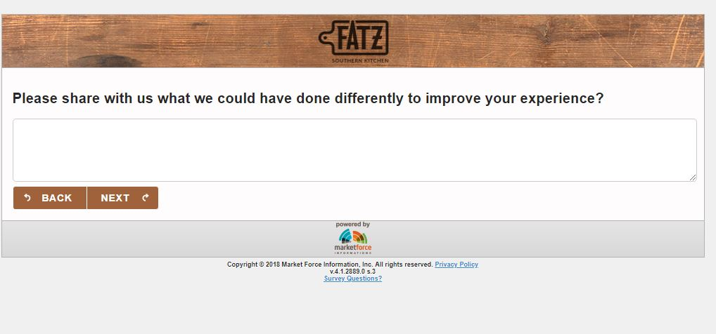 FATZ Customer Satisfaction Survey, www.tellfatz.com - Pinterest