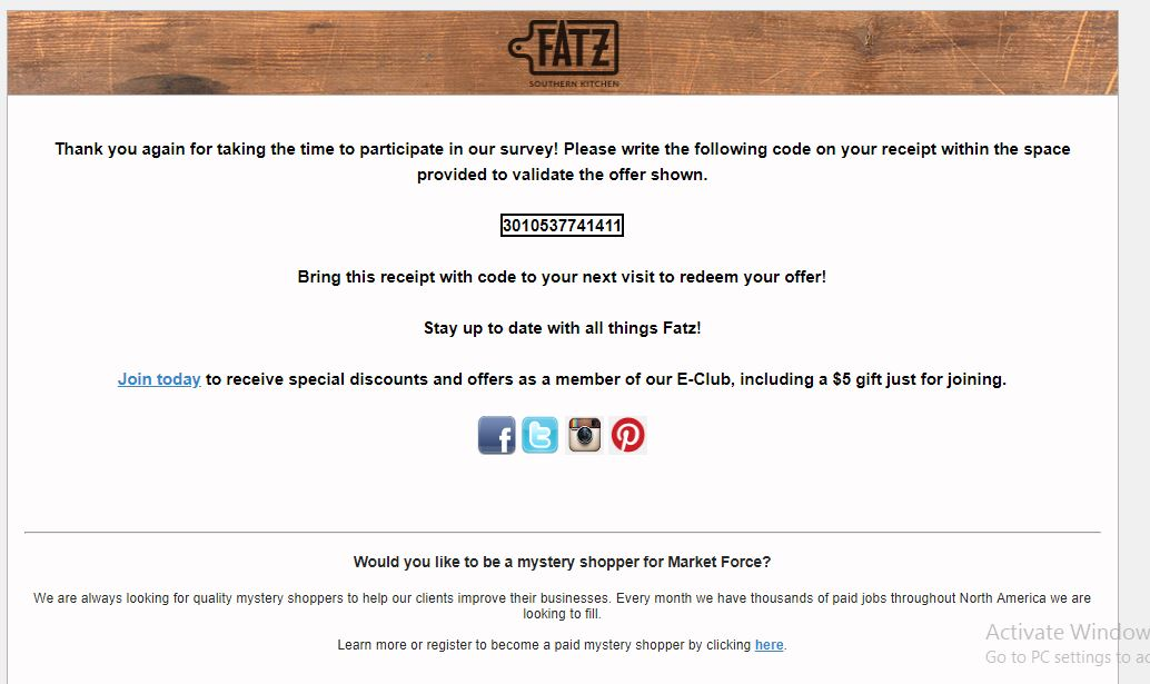 fatz customer survey