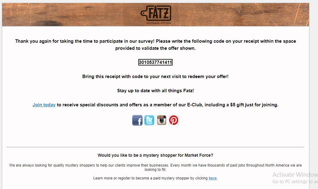 fatz customer survey
