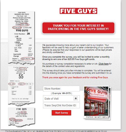 five guys customer feedback