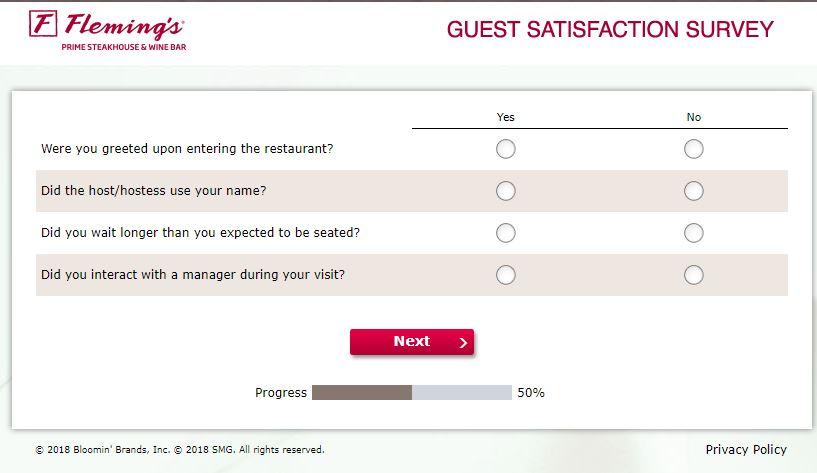 www.flemingslistens.com – Fleming's Guest Satisfaction Survey