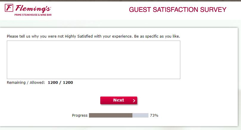 www.flemingslistens.com - Fleming's Customer Satisfaction Survey