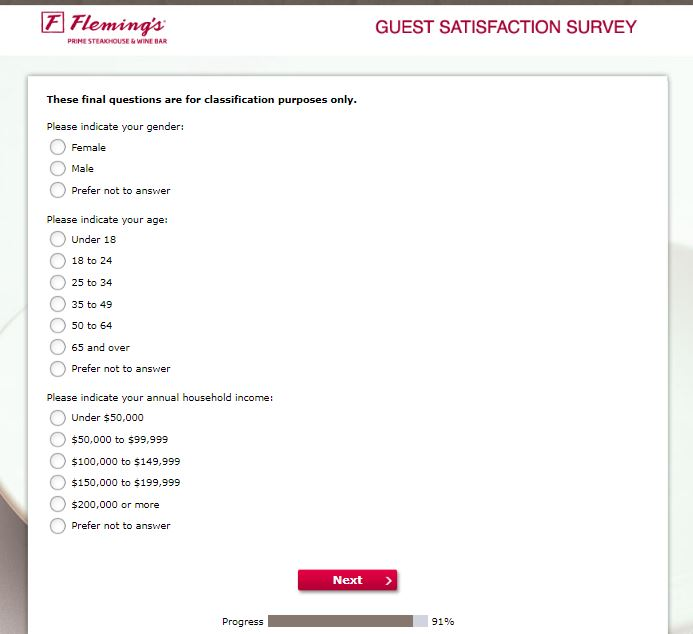 Participate In Fleming's Guest Satisfaction Survey - Nigerian Institute ...