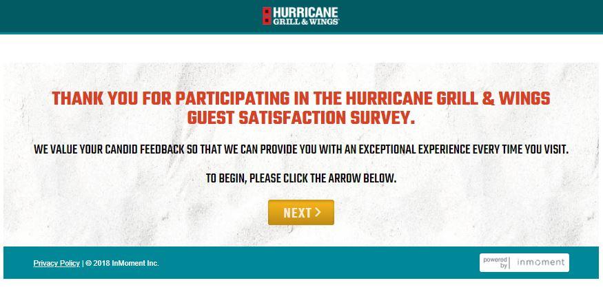 hurricane guest survey
