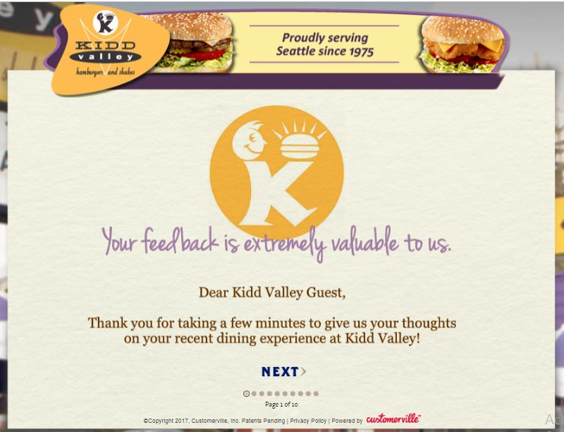 Kidd Valley: Guest Survey