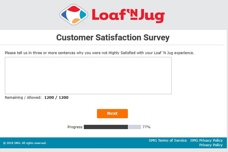 loaf n jug survey