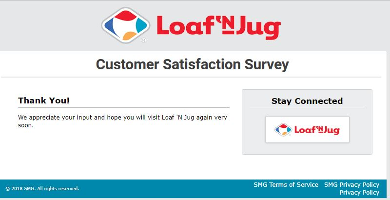 Tell Loaf 'N Jug Feedback in Customer Survey