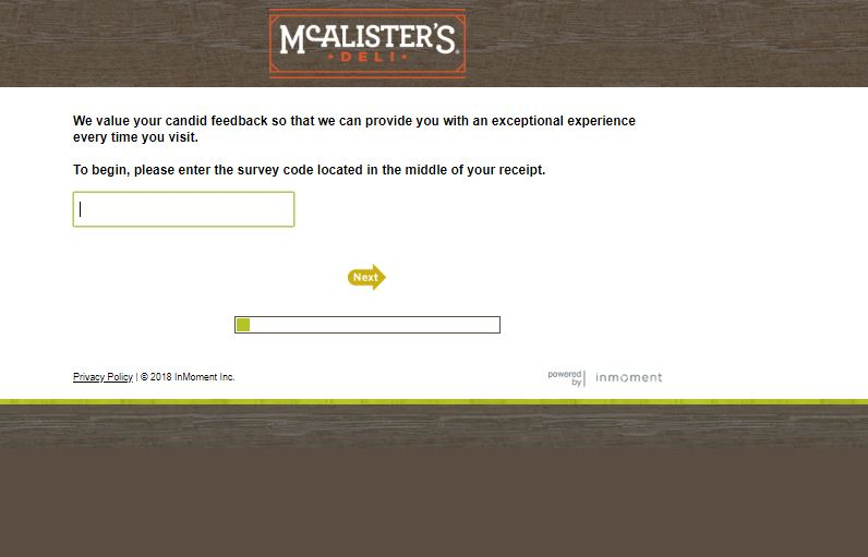 mcalister's deli customer survey