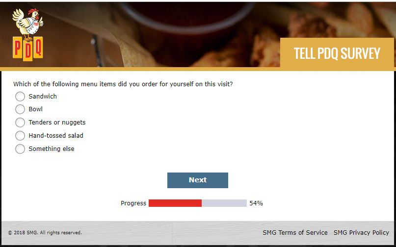 pdq customer satisfaction survey