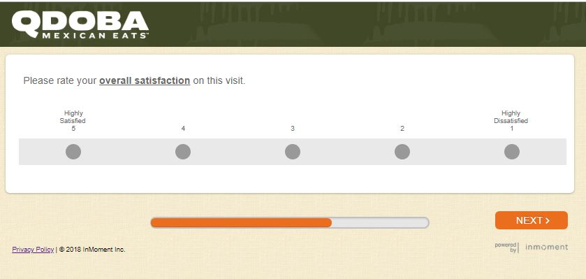 qdoba mexican grill guest satisfaction survey at