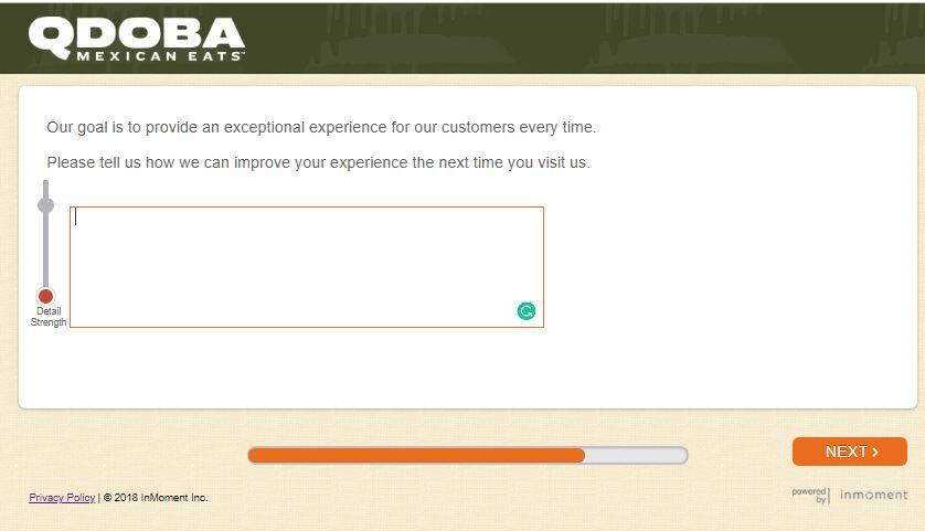 $Qdoba Listens Customer Satisfaction Survey@