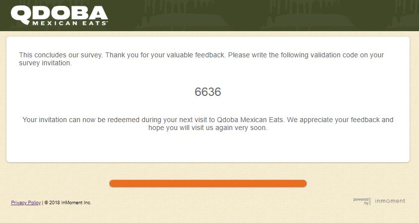 Qdoba Listens Customer Satisfaction Survey |
