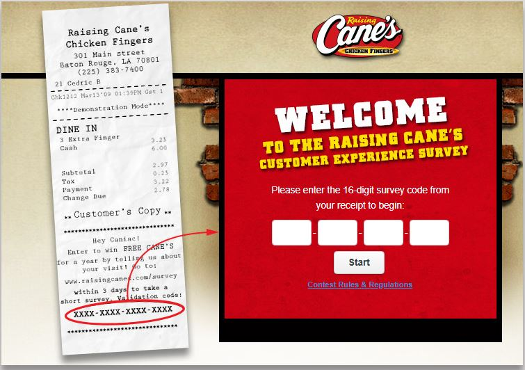 raising cane's customer service
