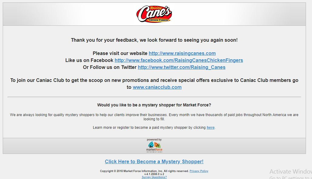 Raising Cane's Survey Sweepstakes: Win Free Cane's for a Year ...